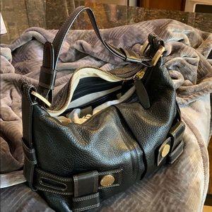 Michael Korda Leather Shoulder Bag